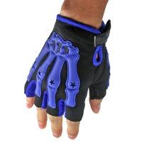 Pro Bone Skeleton Perforated Fingerless Motorcycle Motorbike Half Gloves  High quality