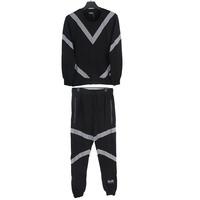 new fashion hot mens floral blazer sweat suits men hip hop set man gym suit cotton sports suit man couple clothes set