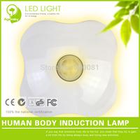 2pcs/lot FREE SHIPPING Clover Human Body Induction Lamp Energy-efficient Dreambed night Sleep Sensor light