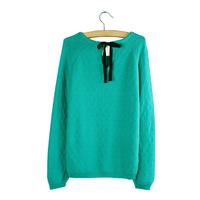 New 2013 autumn-summer women 100% cotton slim pullover o-neck long-sleeve sweater women's sweater cardigan free shipping QD13