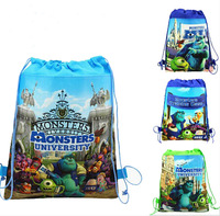 2014 New Selling children's Monsters University 4styles Non-woven Backpack School Bag,camping bags for Kids Cartoon Shopping Bag
