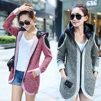 HOT SALE!!! 3 Colours New Lady Fashion Warm Sweater Coat Wool Knit Cardigan Patchwork Dovetail Outwear M L XL