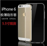 0.3mm ultra-thin transparent TPU phone case for iphone 6 plus 5.5 inch ,free shipping