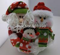Merry Christmas Ornaments 10'' Lovely Idol,Christmas Santa Claus Family Portrait Rag Doll Toys enfeites de natal Decoration