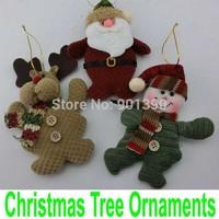 Indoor Christmas Tree Hanging Ornaments enfeites de natal Decoration Santa Claus Snowman Deer X-mas Gift Toys