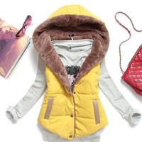 New 2014 Hot Selling Women Winter Vest Cashmere Hoodies Fur Vest Sleeveless Coral Fleece Liner Vest Cotton Vest YYJ165