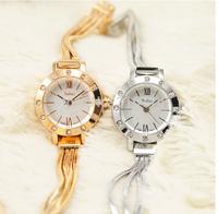 New 2014 Women Watches Fashion Design Roman Scale Quartz Watch Round Stainless Steel Bracelet Rhinestone Dress Clock JA-715