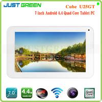 "Cube U25GT-C4W 7"" 1024*600 IPS Tablet Android 4.4 MTK8127 Quad-Core 1.3GHz 1GB 8GB PC HDMI/GPS/ WIFI /Bluetooth Multi Language"