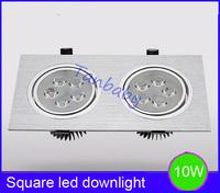 Free shipping  10W or 14W spot led light Square led down light AC85-265V inlcude led driver white,warm white led