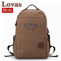 Waterproof canvas shoulder bags doubles shoulder bag backpacks men computer backpacks women  Korean men