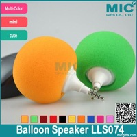 Fashion Hotsell Multi-Color Creative Mini Music Balloon Speaker Cute Music Ball for ipad iphone ipod Samsung LLS074