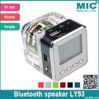 Portable HIFI USB Mini Speaker Micro SD/TF MP3/4 Player Amplifier TV Mobile Phone FM Radio speakers Transparent LY93