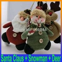 Christmas Gift Tree Ornaments enfeites de natal Decoration Santa Claus Snowman Deer rag doll Toys