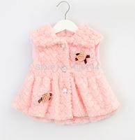 children  fur vest,3-7 YEARS,ZL-CSJ03