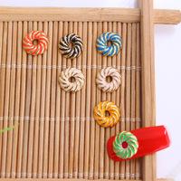 HOT !! 50 PCS/LOT Donuts design 3D  DIY nail accessories wholeslae alloy material color mixed top quality