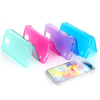 Flip Transparent TPU Silicone Clear Case Cover For Samsung Galaxy S5 I9600#230332