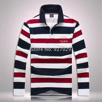 Hot Sale!Brand New Mens Long Sleeve T Shirts Fashion Striped Long Sleeves T shirt Fashion For Men's Designer Long T shirt
