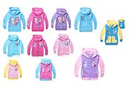 Wholesale Frozen Hoodies Elsa Sweatshirts Anna Outerwear kids Long Sleeve autumn clothings 5 sizes/lot