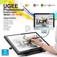"DHL UGEE UG-1910B Professional 19"" LCD Monitor Art Graphic Tablet Drawing Digital Tablet Digitalizer Board USB Pen Drawing Pad"