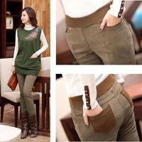 2014 New winter women Plus thick velvet leggings Korean thin trousers tide big yards fat mm female plus size pants