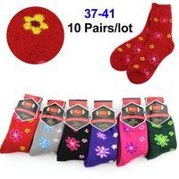 Women Socks10Pairs/Lot Long Warm Sock 6 colors In Tube Socks Factory Outlet Socks Women Autumn-Winter Free Shipping