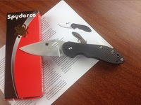 Folding Knives Spyderco Pocket Knife With Decorative Pattern Spyderco Brad Southard Spyderco Paratrooper Free Shipping