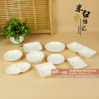 Melamine dish grade A5 pure white vinegar dish melamine tableware  bun oil for dipping saucer dishes