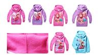 Wholesale Winter Frozen Hoodies Elsa Sweatshirts Anna Outerwear kids Long Sleeve warm clothings 5 sizes/lot