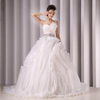 2014 wedding new arrival wedding dress formal dress small wedding tube top hunsha plus size wedding dress long design