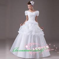 2014 sweet vintage bandage tube top wedding dress princess bride wedding dress vestido de novia vestido de noiva 081
