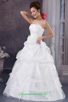 2014 sweet vintage bandage tube top wedding dress princess bride wedding dress vestido de novia vestido de noiva 082