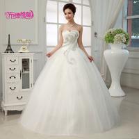 free shipping 2014 new White arrival Dukes wedding dress, bridal dress