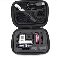 (Size S: 165 x 120 x 65mm) Camera Video  Bag Gopro Storage Case for Gopro HD Gopro Hero 3+, 2, 1 Go pro Hero3 Accessories