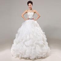 2014 wedding new arrival bride organza wedding dress princess tube top skirt
