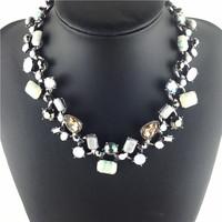 New Arrive women Luxury hot sale Stone  jewelry necklace vintage crystal Romantic necklace beauty necklaces & pendants