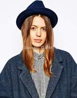 6pcs/LOT New Fashion Autumn Winter 100% Wool Women's 5 Color Fedora hats Floppy Trilby felted hat Ladies Panama Cap Wholesale