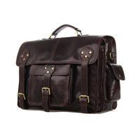 Guaranteed 100% Genuine leather New arrivals High-grade leather Men handbag Large capacity Hip-hop style