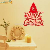 Christmas tree merry christmas wall decals 2014 new arrive zooyooxmas19 diy wall decor xmas present vinyl wall stickers