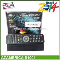 2014 selling South america NOVA receptor Azamerica S1001 HD Receiver free SKS & IKS Full Hd 1080p factory sales