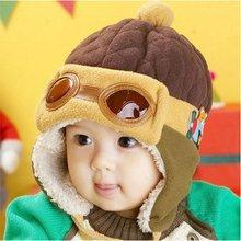New Baby Kids Toddler Boys Girls Pilot Aviator Winter Warm Cap Ear Flap Soft Hat(China (Mainland))