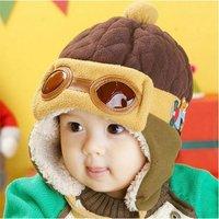 New Baby Kids Toddler Boys Girls Pilot Aviator Winter Warm Cap Ear Flap Soft Hat