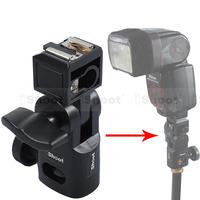 Mini Flash Bracket/Umbrella Holder - Universal Metal Hot Shoe Mount for Speedlite 600EX-RT/580EX 430EX & II/550EX/540EZ