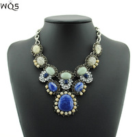 2014 New Fashion Luxury Multicolour Pearl Shourouk Choker Necklaces & Pendants Vintage Statement Braid Pendant Jewelry For Women
