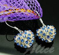 925 Silver Earrings Jewelry Fashion Earrings Fashion Jewelry Crystal Earrings Heart MDE024