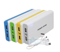 Free shipping NEW High Quality 2 USB 50000mAh Power Bank 50000MAH Backup Power External Battery Pack(China (Mainland))