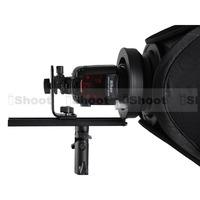 Flash Bracket Holder + Bowens Mount Adapter + Metal Chuck / Speedring for Speedlite & EZ-Fold Flash Softbox Diffuser