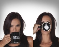 Free Shipping Hot Novelty Personality HAVE A NICE DAY Cup Middle Finger Mugs High Quality