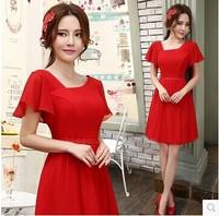 Red Short and Long Bridal Wedding Dress Evening Dress Wedding Dress