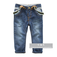 Spring / Autumn Children's Clothing Brand Child Bib Pants Baby Boys Girls Big PP Overalls Denim Jeans Casual Pants for Boys