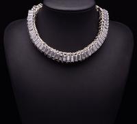 2014 Women Hotsale New za Vintage Necklace Gem Crystal Luxury Statement Crystal Clain Women Shourouk Good Quality 9313